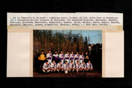 Foto Originale ANSA Gazzetta Di Firenze Fiorentina Allenata Da Bresciani '92 - Testata Giornalistica - Foto Calciatori - Sport