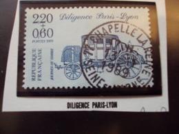"""1980-89  T. Oblitéré N°  2577-   """"     Diligence Paris-lyon 2.20+0.60      """"      -  Net  1 - France"""