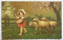 (1453) Joyeuses Pâques - Gisèle, Het Herderinnetje Met Lammeren  - 1912 - Pâques