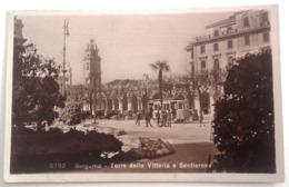 LOMBARDIA - BERGAMO - TORRE DELLA VITTORIA E SENTIERONE Formato Piccolo Viaggiata Nel 1928 - Animazione Di Persone E Tra - Bergamo