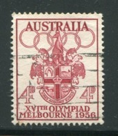AUSTRALIE- Y&T N°231- Oblitéré - Verano 1956: Melbourne