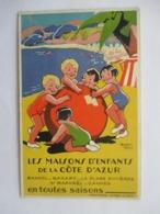 .BEATRICE  MALLET  -   LES MAISONS  D ' ENFANTS  DE LA  COTE  D 'AZUR           TTB - Mallet, B.