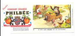 Buvard Fondant Orange Philbee - Le Petit Ours Fait De L'automobile - Alimentaire