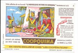 BUVARD COOPQUINA LA MERVEILLEUSE HISTOIRE DU QUINQUINA N° 3 - Buvards, Protège-cahiers Illustrés