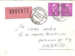 CARTA 1960  URGENTE  TORREMOLINOS - 1931-Hoy: 2ª República - ... Juan Carlos I