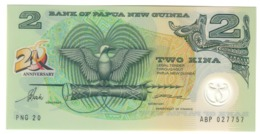 Papua New Guinea 2 Kina 1995 Pick 15 Commemorative 20 Years UNC - Papua Nueva Guinea