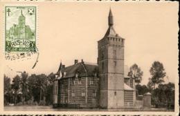 48465 Belgium, Maximum 1952  Medieval  Burg Schloss Castle Of Horst - Maximum Cards