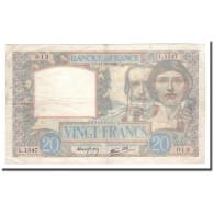 France, 20 Francs, Science Et Travail, 1940, 1940-10-17, TB+, Fayette:12.9 - 1871-1952 Antichi Franchi Circolanti Nel XX Secolo