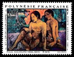 POLYNESIE 1981 - Yv. PA 160 **   Cote= 5,50 EUR - Tableau De Paul Gauguin  ..Réf.POL24436 - Poste Aérienne