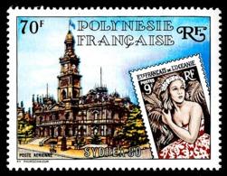 POLYNESIE 1980 - Yv. PA 155 **   Cote= 9,20 EUR - Expo Phil. Sydpex'80, Timbre Sur Timbre  ..Réf.POL24434 - Poste Aérienne