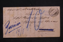 ALLEMAGNE - Lettre De Neustadt En 1890 Pour Lenzkirch Et Retour, Voir Cachets Recto Et Verso - L 45204 - Germany