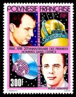POLYNESIE 1981 - Yv. PA 161 **   Cote= 14,50 EUR - 1ers Hommes Dans L'espace  ..Réf.POL24437 - Poste Aérienne