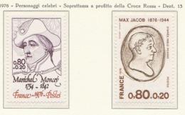 PIA - FRANCIA  - 1976 : Personaggi Celebri - Sovrattassa A Favore Della Croce Rossa - (Yv 1880-82) - Primo Soccorso