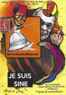 CPM Timbre Monnaie Siné Par Jihel Tirage Limité En 30 Exemplaires Numérotés Signés Banania Colonialisme Négritude - Coins (pictures)