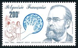 POLYNESIE 1982 - Yv. PA 167 **   Faciale= 1,68 EUR - Robert Koch, Lutte Antituberculeuse  ..Réf.POL24440 - Poste Aérienne