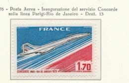 PIA - FRANCIA - 1976 : Inaugurazione Del Servizio Del Concorde Sulla Linea Parigi-Rio De Janeiro  - (Yv PA 49 ) - Automobili