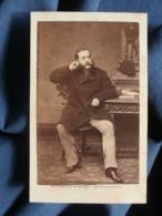 Photo CDV Bousseton Et Appert à Paris - Second Empire Notable Assis, Circa 1860-65 L471 - Old (before 1900)