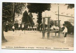 61 ALENCON Providence Rare CARTE PHOTO Cours Gymnastique Des Garcons Institution Sourds Parlants Et Aveugles  D18  2019 - Alencon