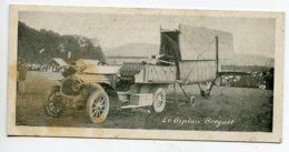 AVIATION Avion Biplan Bréguet Tracté Par Automobile Mini Carte  Dim 6,5 Cm X 13,5 Cm  D18 2019 - ....-1914: Precursors