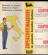 Carte Routière Italie, Présentez Ce Coupon AGIP Pour Recevoir Une Carte Routes Italie, 22x44cm, - Geographical Maps