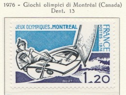 PIA - FRANCIA - 1976 : Giochi Olimpici Di Montréal  - (Yv 1889) - Estate 1976: Montreal