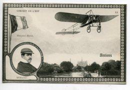 80 AMIENS Aviation Circuit De L'Est Aviateur MORANE Sur Avion Monoplan Blériot 1910  D18  2019 - Amiens