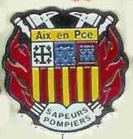 @@ Sapeurs Pompiers Blason écusson Aix En Provence @@pom115a - Bomberos