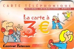 Carte Prépayée - CENTRAL TELECOM  -  3 € - Francia