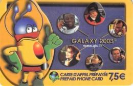 Carte Prépayée - GALAXY 2002 - 7.50 € - Francia