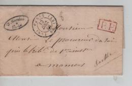 PR7535/ Précurseur LAC Paris 1846 J.Mosnice C.Paris 12/12/46 (AS) > Procureur Du Roi Mamers Sarthe C.d'arrivée Gff P.P. - 1801-1848: Precursors XIX