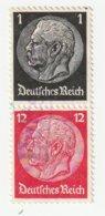 Deutsches Reich 1937 Michel 512/519, S147 Gestempelt, Hindenburg Zusammendruck Aus H-Blatt 90, S 147 - Zusammendrucke