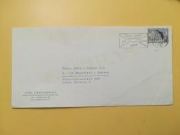1968 BUSTA INTESTATA DANIMARCA DENMARK BOLLO CENTENARIO CHIESA MARINAI ANNULLO OBLITERE' COPENAGHEN ETICHETTA - Danimarca
