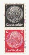 Deutsches Reich Michel S147 Gestempelt, Hindenburg Zusammendruck Aus H-Blatt 90, S 147 - Zusammendrucke