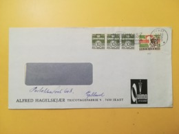 1970 BUSTA INTESTATA DANIMARCA DENMARK BOLLO DEER PARK ANNULLO OBLITERE' IKAST ETICHETTA - Danimarca
