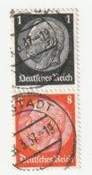 Deutsches Reich Michel 512/57, S135 Gestempelt, Hindenburg Zusammendruck Aus H-Blatt 88, S 135. - Zusammendrucke