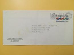 1971 BUSTA INTESTATA DANIMARCA DENMARK BOLLO 25 ANNI ANNIVERSARY UN ANNULLO OBLITERE' COPENAGHEN ETICHETTA - Danimarca