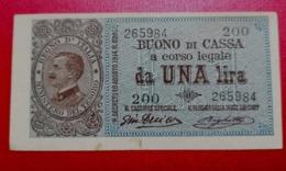 1 LIRA BUONO DI CASSA VITTORIO EMANUELE III - 1914 - [ 1] …-1946 : Regno