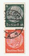 Deutsches Reich Michel 516/517, S159 Gestempelt, Hindenburg Zusammendruck Aus H-Blatt 92, S 159 - Zusammendrucke