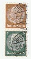 Deutsches Reich Michel 513/516, S151 Gestempelt, 3+6 Hindenburg Zusammendruck Aus H-Blatt 91, S 151 - Zusammendrucke