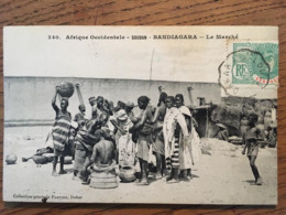 CPA, MALI Actuel, (Afrique Occidentale, Soudan) BANDIAGARA, Le Marché, écrite, Timbre, éd Fortier - Mali