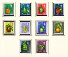 MONTSERRAT - 1969-70 Definitives Sideways Watermark Set Unmounted/Never Hinged Mint - Montserrat
