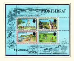 MONTSERRAT - 1970 Tourism Miniature Sheet Unmounted/Never Hinged Mint - Montserrat
