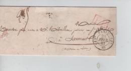 PR7537/ Précurseur LSC Paris 1841 C.Paris 24/02/41 (AS) > Jardinier à Saumur C.d'arrivée Gff P.P. - 1801-1848: Precursores XIX