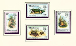 MONTSERRAT - 1972 Reptiles Set Unmounted/Never Hinged Mint - Montserrat