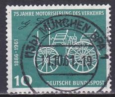 FRG/1961 - Mi 363 - 10 Pf - USED/'(13b) MÜNCHEN BPA 1' - [7] West-Duitsland