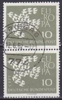 FRG/1961 - Mi 367y - 10 Pf - USED/'TRIBERG' - [7] República Federal