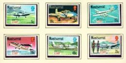 MONTSERRAT - 1971 Air Transport Set Unmounted/Never Hinged Mint - Montserrat