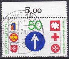 FRG/1979 - Mi 1004 - 50 Pf - USED/'FRANKFURT AM MAIN 3' - [7] Repubblica Federale