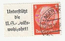 Deutsches Reich 1936 Michel A8a/517, W63. Gestempelt, A 8 A + 8 Pfg. Hindenburg Zusammendruck, W 63. - Zusammendrucke