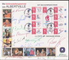 1992 Albertville Olympic Games - Berlin Die Goldmedaillen Gewinner Von Albertville - Offizieller Autogrambeleg - Winter 1992: Albertville